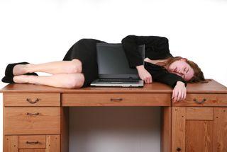 Sleep on desk